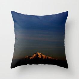 Wintery Sunset Throw Pillow