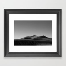 At the desert Framed Art Print