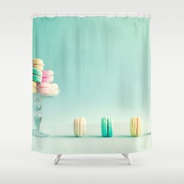 Macarons, macaroons still life, pop art Shower Curtain