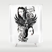 laura palmer Shower Curtains featuring Laura by Hoovers From Hell