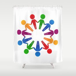 circle famille 4 Shower Curtain