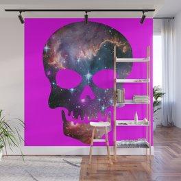 Galaxy Skull (Fuscia) Wall Mural
