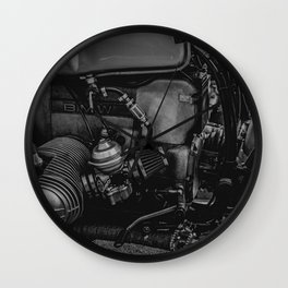 Engine work Wall Clock