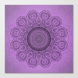 Mandala on Light Purple Canvas Print