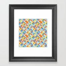 colorful geometric diamonds Framed Art Print