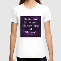 "oscar wilde T-shirts featuring ""Imitation is the most sincere form of flattery."" - Oscar Wilde by Retro Designs"