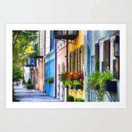 Rainbow Row I Art Print