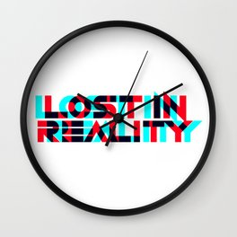 Lost In Reality Wall Clock