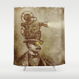The Projectionist (sepia option) Shower Curtain