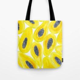 Papaya slices watercolor Tote Bag