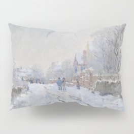 Snow Scene at Argenteuil by Claude Monet Pillow Sham