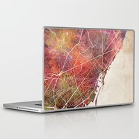 barcelona Laptop & iPad Skins featuring Barcelona by MapMapMaps.Watercolors