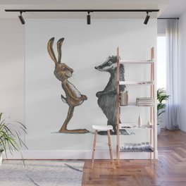 Hare & Badger Wall Mural