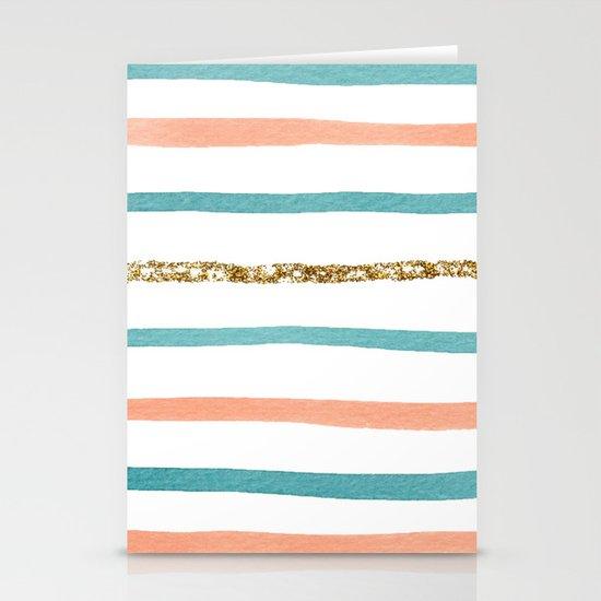 Sparkle Stripe Stationery Cards
