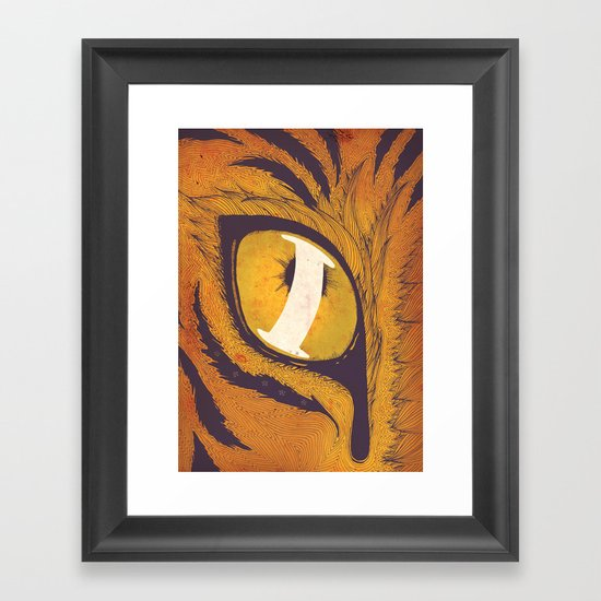 """I"" of the Tiger Framed Art Print"