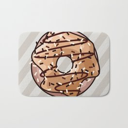 Toffee and Chocolate Donut Bath Mat