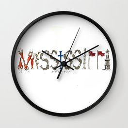 OXFORD - Ole Miss Wall Clock