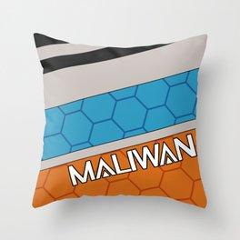 Borderlands Maliwan Brand Throw Pillow
