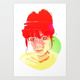 'Girl with Fire in Her Eyes' Art Print