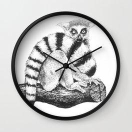 Lemur drawing Wall Clock