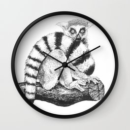 Lemur drawing  Wall Clock