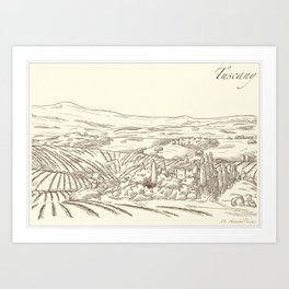 The Cannibal's View - Tuscany Sketch Signed Hannibal Art Print