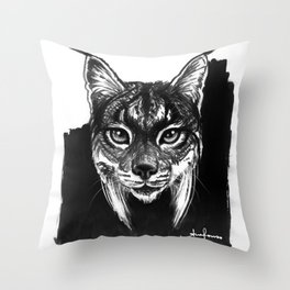 Lynx bobcat Throw Pillow
