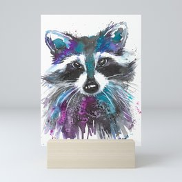 Sneaky Pete the Raccoon Mini Art Print