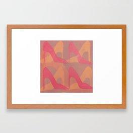 Shoe Pattern No. 1 Framed Art Print