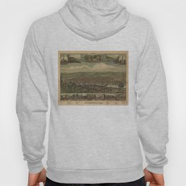 Vintage Pictorial Map of New Brighton PA (1883) Hoody