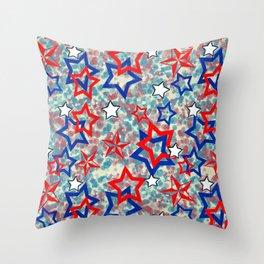 Stars and Splats Throw Pillow