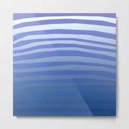 Marine Wave Metal Print