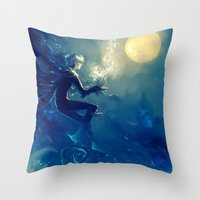 jack frost Throw Pillows featuring Jack Frost by AkiMao