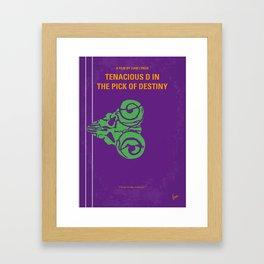 No863 My The Pick of Destiny minimal movie poster Framed Art Print