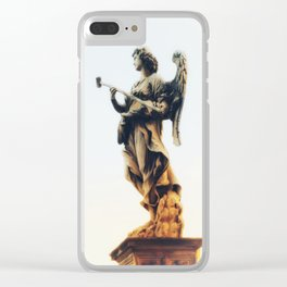 Angels are Watching Clear iPhone Case