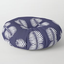 TROPICAL PALMS . BLUE Floor Pillow