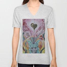 Lava heart ala Aztec Unisex V-Neck