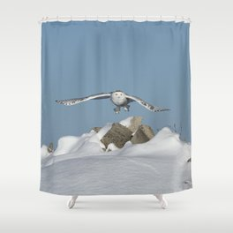 Over the hills Shower Curtain