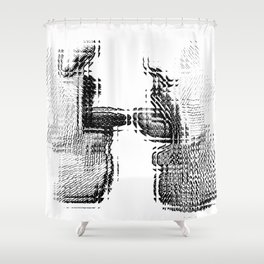 Gay French Kiss Shower Curtain