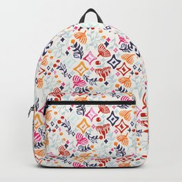 Abstract Christmas Ginkgo and Berry Pattern Backpack