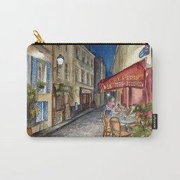 Postcards from Paris - Montmartre by Night: Le Tire-Bouchon Creperie Carry-All Pouch