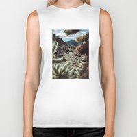 frame Biker Tanks featuring Cholla Frame by Kevin Russ