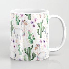 Llama Llamarama + Cactus Coffee Mug