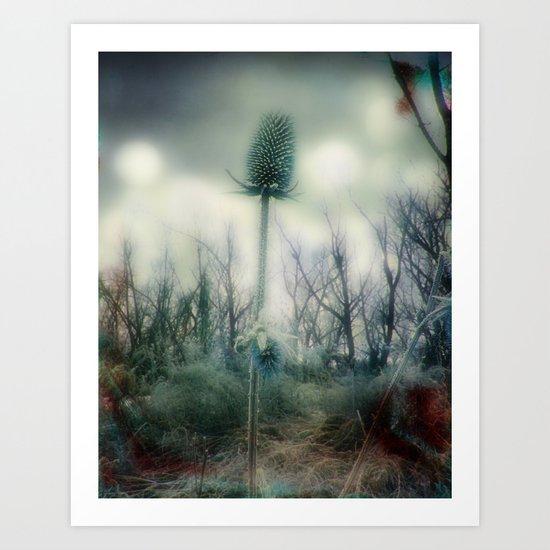 Ice Blue Meadow Art Print