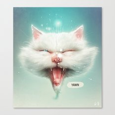 The Water Kitty Canvas Print