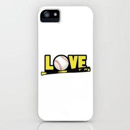 Baseball Bat Hitter Baseballer Players Hitter Pitcher Love Softball Gift iPhone Case