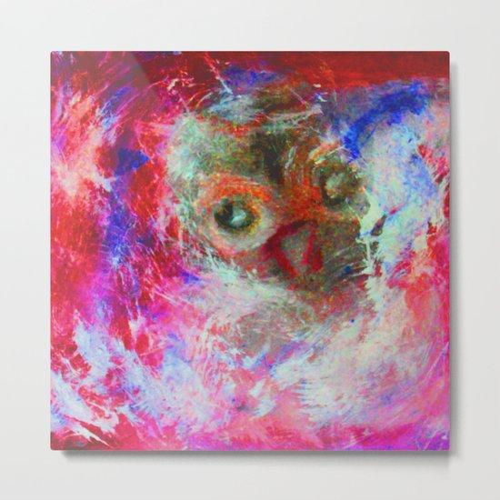 Abstract Owl Metal Print