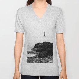 Morris Island Lighthouse Unisex V-Neck