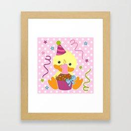 Duck 1 year Framed Art Print