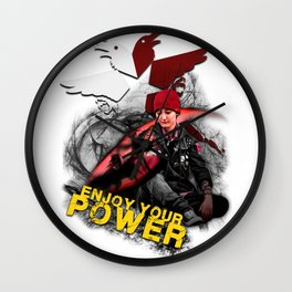 """InFamous Second Son - """"ENJOY YOUR POWER"""" Wall Clock"""